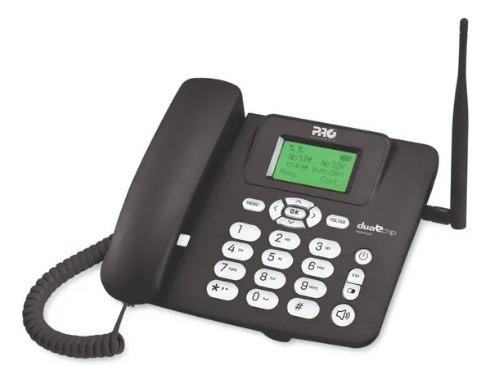 Imagem 1 de 2 de Telefone Celular Rural Fixo De Mesa Proeletronic Procd-6020