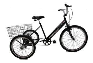 Bicicleta Triciclo Luxo Aro 26 Completo Frete Grátis