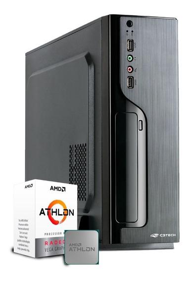 Pc Escritório Amd Athlon 200ge / 4gb / 1tb / Envio Imediato