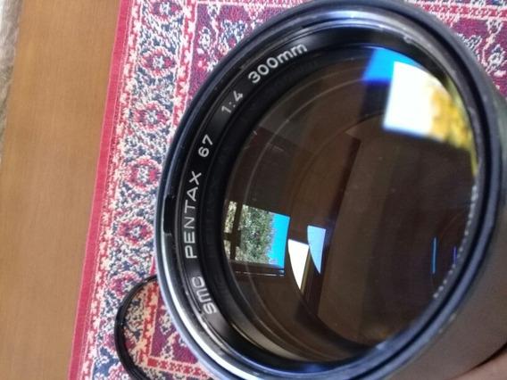 Smc Pentax 67 1:4 300mm Com Tampas E Filtro Skylight Smc