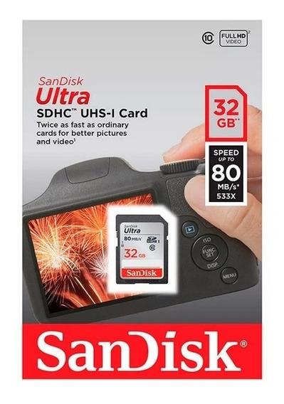 Memoria Sd Ultra Sdhc Uhs-i 32gb Sandisk Clase 10 Nueva!