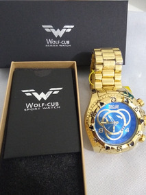 Relógio Doura Do Wolf Cub Original Aço Inoxcidavel P Água