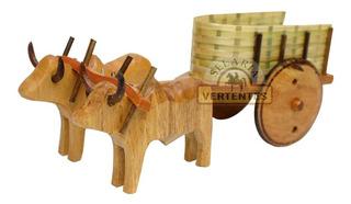 Miniatura De Carro De Boi Sv8393