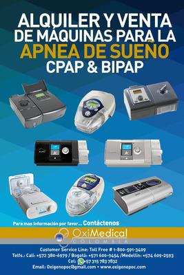 Alquiler Venta Maquina Apnea Sueño Cpap Oximedical Bogota