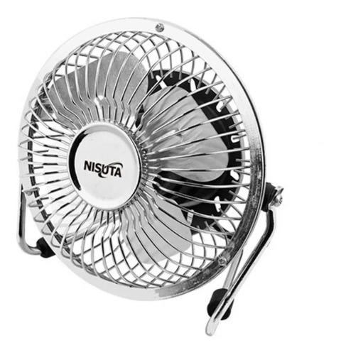 Ventilador Mini Usb Nisuta Metalico Ideal Para Escritorio