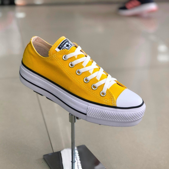 Tênis Converse All Star Amarelo Lona Plataforma - Lj Att
