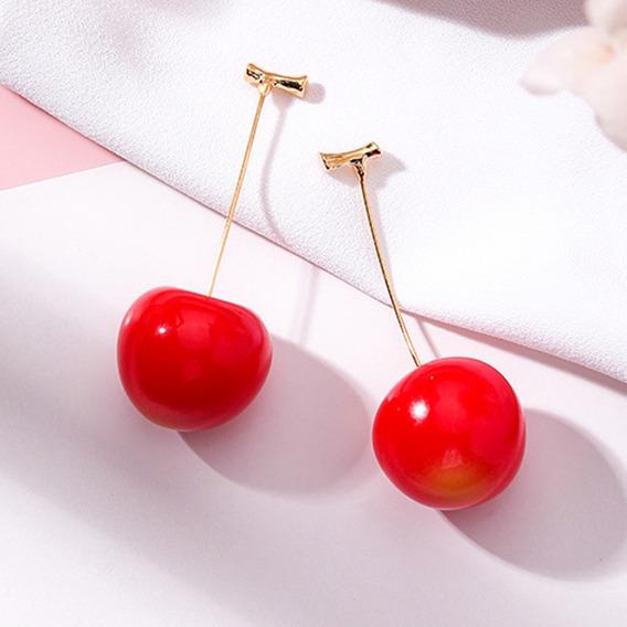 Lindo Brinco Fruta Cereja Tomatinho Pop Divertido Diferente