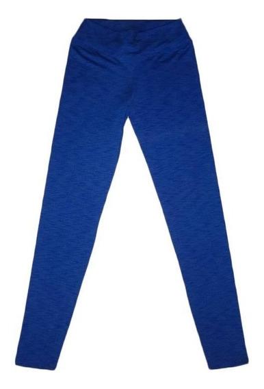 Calza Larga Lycra Azul Jaspeada Mujer