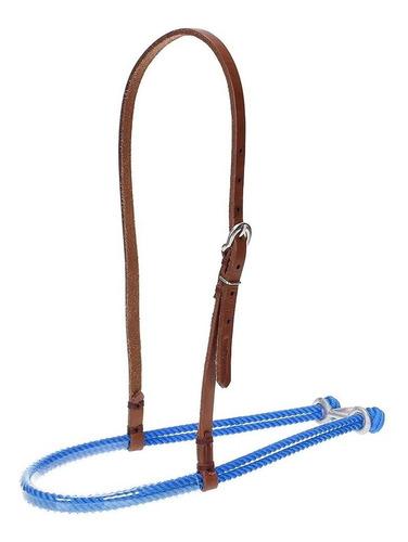 Imagem 1 de 2 de Gamarra Para Cavalo De Couro E Peia Azul Top Equine 20933