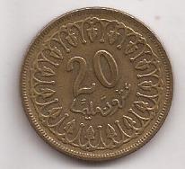 Tunez Moneda De 20 Millim Año 1983 !!!