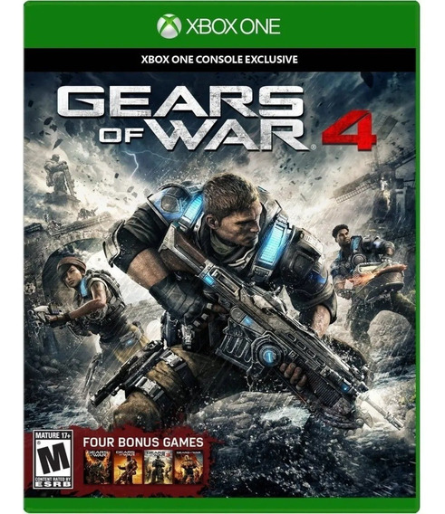 Jogo Mídia Física Gears Of War 4 Pt Original Xbox One