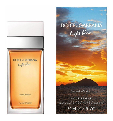 Imagen 1 de 5 de Perfume Importado Mujer D&g Light Blue Salinas Edt 50ml