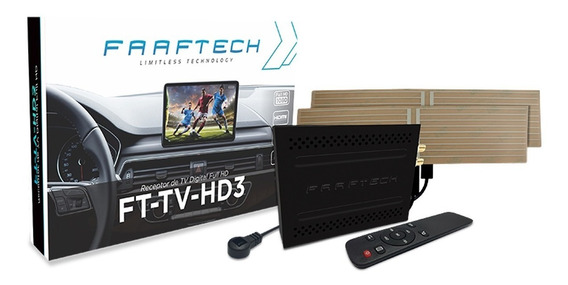Receptor Tv Digital Full Hd C Entrada Usb Faaftech Ft-tv-hd3