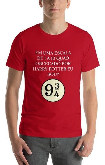 Camiseta Harry Potter Masculina Vermelha