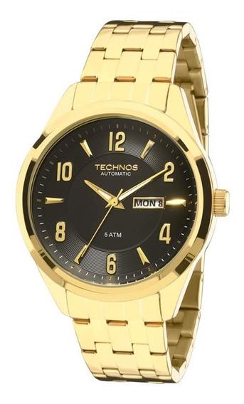 Relógio Technos Masculino Dourado Classic Automático 8205ni/