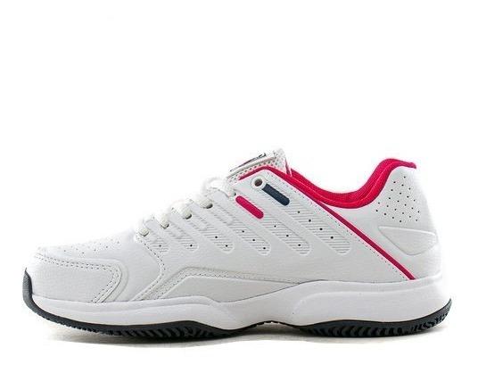 Zapatillas Fila Lugano 6.0 Mujer Blanco Fucsia