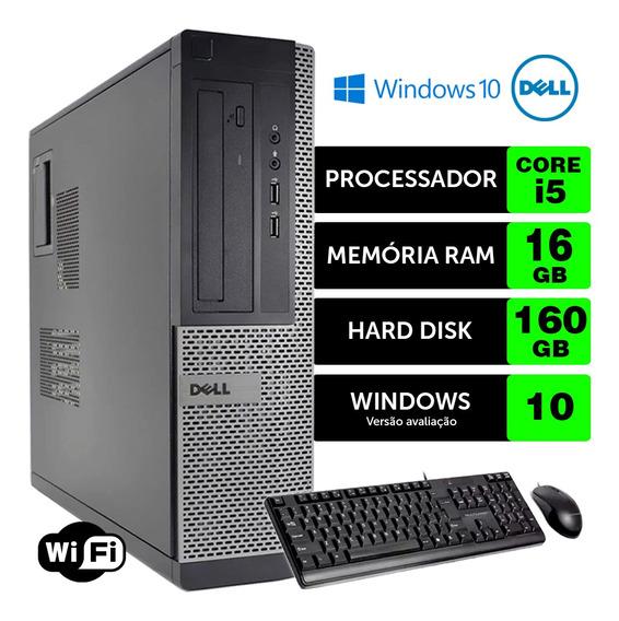Computador Usado Dell Optiplex Int I5 2g 16gb 160gb Brinde