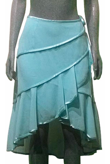 Falda Elegante Cruzada Asimétrica Para Dama + Regalo