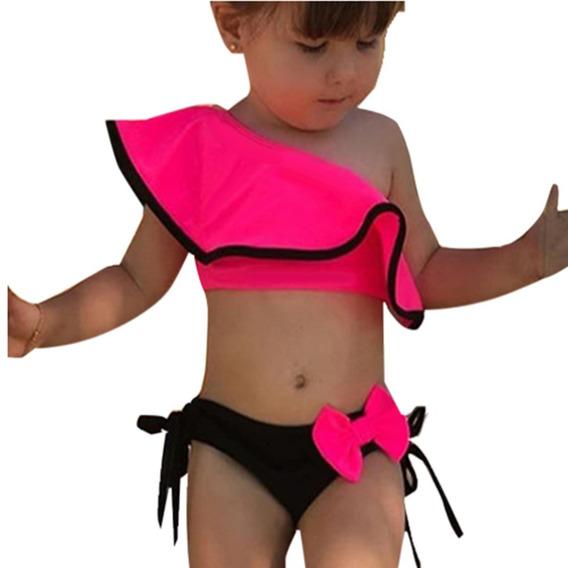 Biquini Bikini Listrado Infantil Bebe Ref:18813