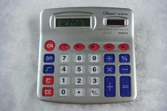 Calculadora De Mesa Kenko Kk8818 Com 8 Digitos 6 Unidades