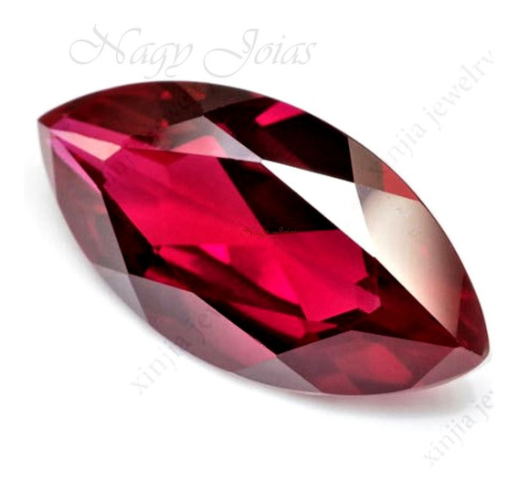 Rubi Pedra Preciosa 6mm X 12mm