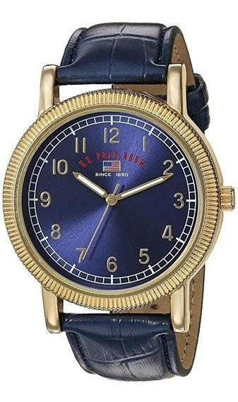 Reloj U.s Polo Ralph Lauren Assn. Azul Metalico