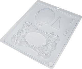 Forma De Acetato Chocolate Porta Retrato Moldura Kit 10 Pçs