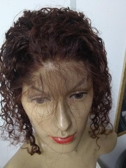 Prótese Capilar Topo Frontal Closure Cabelo Humano 40cm 40g