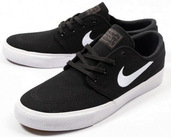 Zapatillas Nike Sb Zoom Janoski Canvas Ar7718-001 Lona Negro