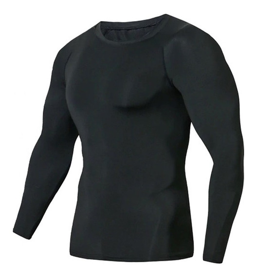 Segunda Pele Blusa Térmica Preta Não Transparente Roupa Frio