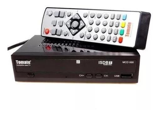 Kit Conversor Digital Tomate Função Usb: Multimídia / Gravador + Antena Externa Hannover C/ Cabo E Suporte