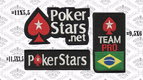Patch Bordado Kit 3 Peças Poker Stars Termocolante.