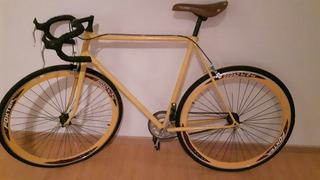 Bicicleta Fixie Amarilla Hermosa