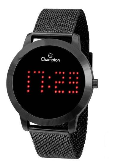 Relógio Champion Feminino Digital Ch40017d Preto Negativo