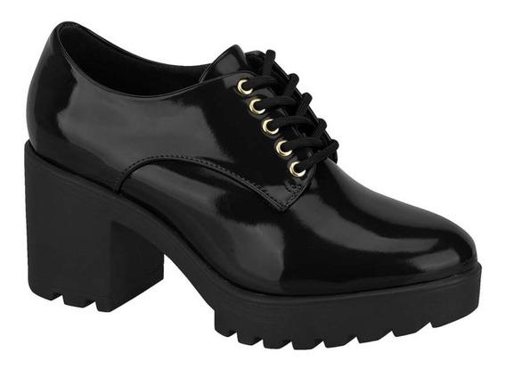 Sapato Oxford Vizzano Salto Tratorado 1294.100 Feminino