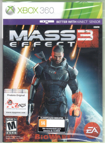 Mass Effect 3 Kinect Xbox 360 Mídia Física Lacrado