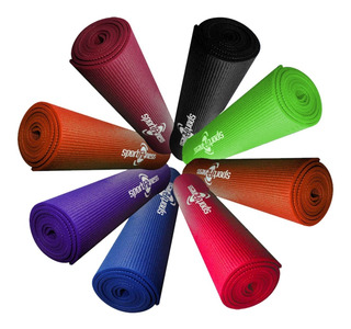 Colchoneta Mat Yoga Pilates Sportfitness 6mm Tapete Gimnasio