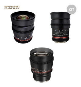 Kit Rokinon Lentes Cine 85mm 24mm 35mm Sony E-mount