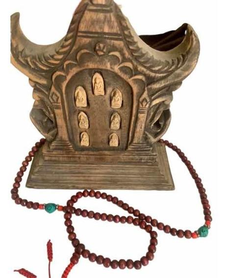 Altar Pequeño A Buddha Y Mala (rosario) Traídos De Malasia