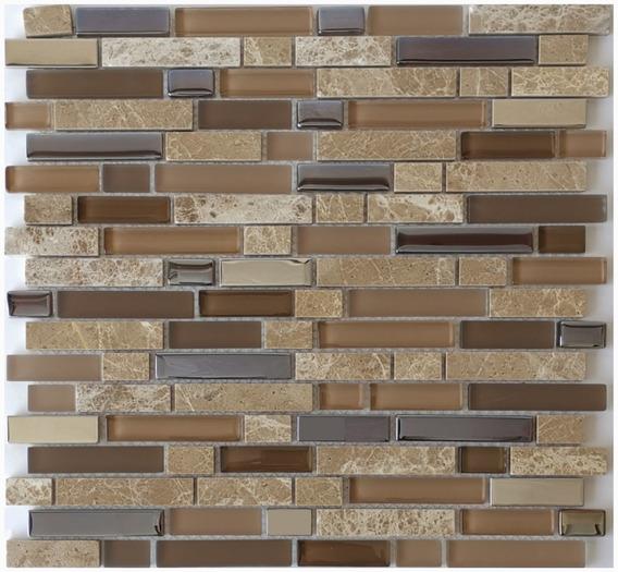 1 X Malla Mosaico Decorativa Cenefa Vidrio Marmol Latitude