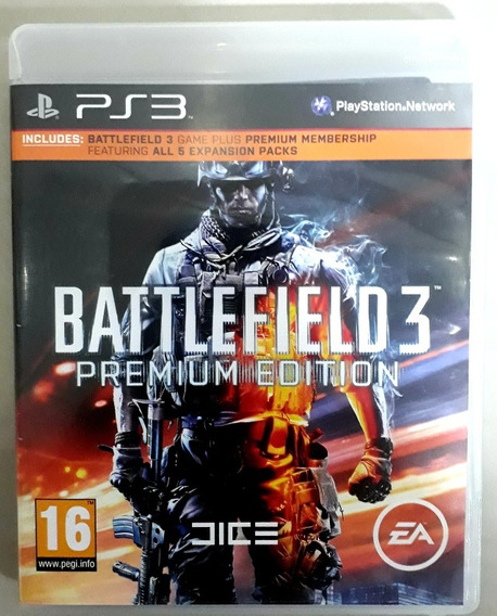 Battlefield 3 Premium Edition Ps3 Playstation 3 Midia Fisica