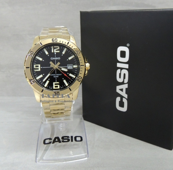 Lançamento Relógio Masculino Casio Mtp-vd01g-1bvudf (nf)