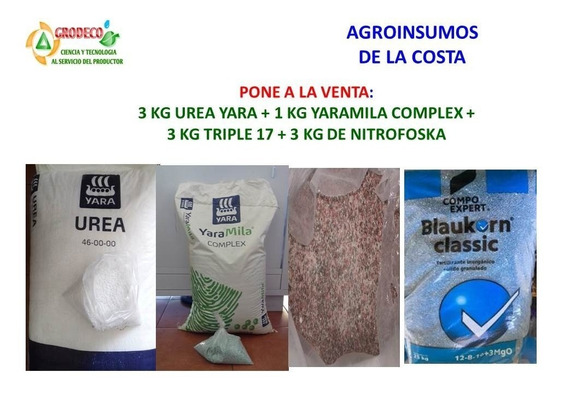 Kit De Fertilizantes Granulados Urea, Complex, Nitrofoska