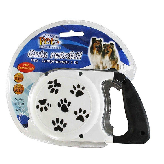 Guia Retrátil Pet Automática - 5m P/ Cães Até 20 Kg G-505