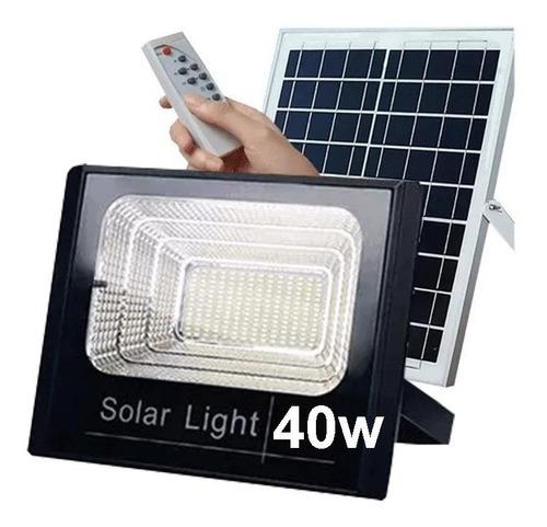 Foco Solar 40w Con Panel Para Hogar