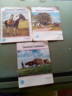 Lote Revistas Gaceta Campera X 3 Año 1942