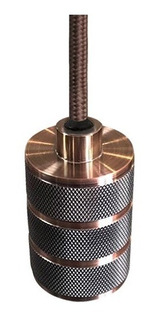 Decorativo Colgante Cilindrico Bulbo E27 Cobre Antiguo