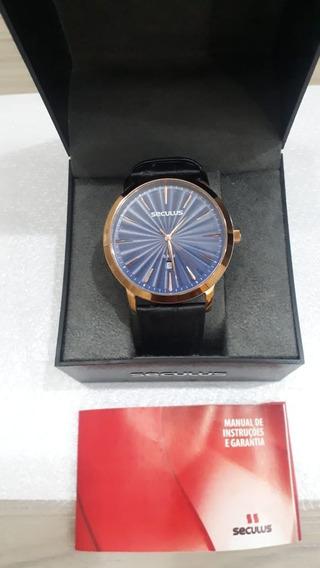 Relógio De Couro Original Barato Seculus Relógio Masculino