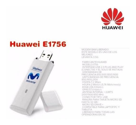 Modem De Internet / Bam Movistar 3g Modelo E1756 ( 15v )