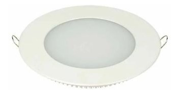 Kit C/4 Painel De Led Redondo Embutir Branco Frio 6w